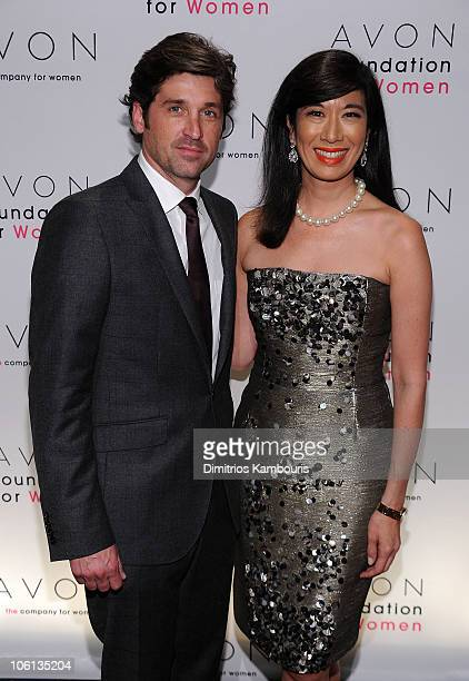 Avon Spokesperson Patrick Dempsey and Chairman and CEO of Avon Products Andrea Jung attend the 10th Anniversary Avon Foundation for Women Gala...
