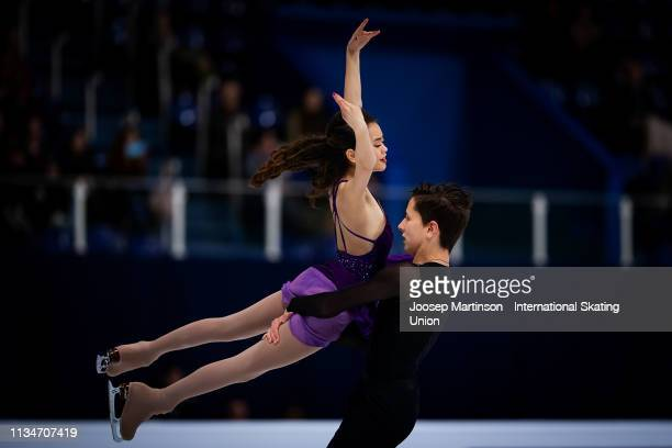 Avonley Nguyen and Vadym Kolesnik of the United States compete in the Junior Ice Dance Free Dance during day 4 of the ISU World Junior Figure Skating...