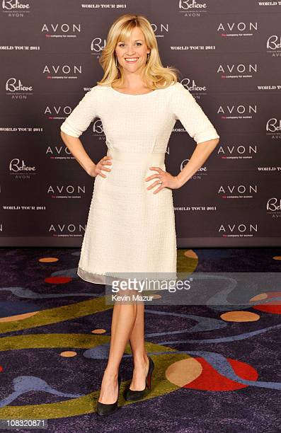 Avon's Global Ambassador Reese Witherspoon celebrates the company's 125th Anniversary during the 2011 Avon Global Believe Tour on January 25, 2011 in...