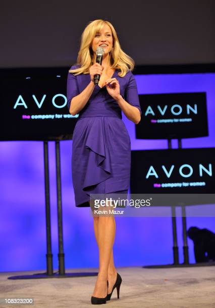 Avon's Global Ambassador Reese Witherspoon celebrates the company's 125th Anniversary during the 2011 Avon Global Believe Tour on January 25 2011 in...