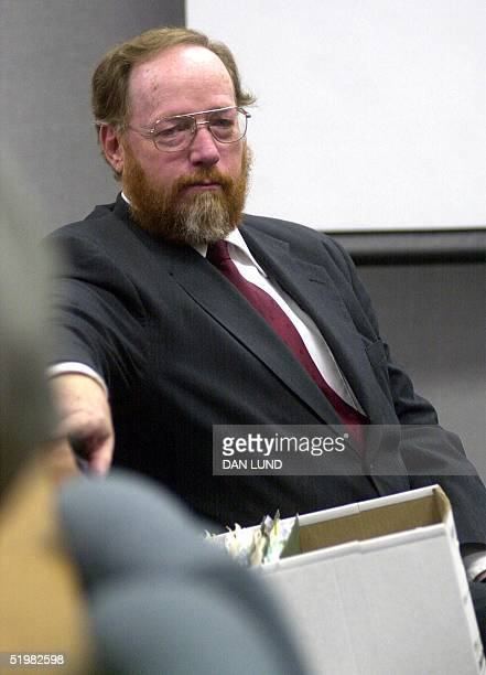 Avowed polygamist and fundamentalist Mormon Tom Green sits in court 16 May 2001 in Provo Utah Green who is married to five women faces four counts of...