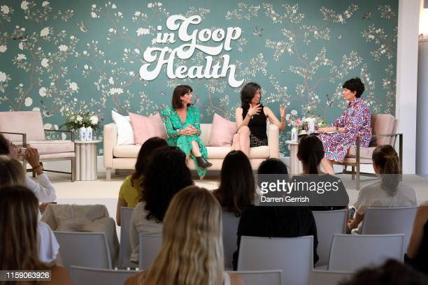 Avra van der Zee Beth Gardiner and Elise Loehnen on stage at In goop Health London 2019 on June 29 2019 in London England