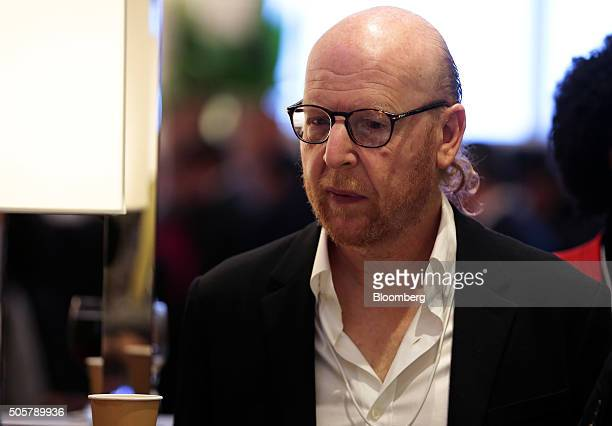 Avram Glazer, co-chairman of Manchester United Plc, looks on between sessions during the World Economic Forum in Davos, Switzerland, on Wednesday,...