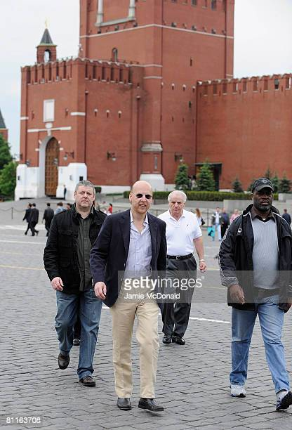 Avram Glazer, son of Manchester United owner Malcolm Glazer, walks through Red Square on May 20, 2008 in Moscow, Russia.