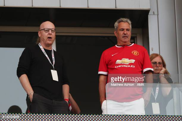 Avram Glazer who is part of the Glazer family, who own the Tampa Bay Buccaneers of the NFL, and who controls Manchester United looks on during to the...