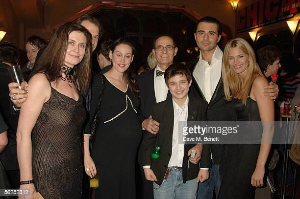 Avril Danesh tennis player Greg Rusedski his wife Lucy Booth Cyrus and Darius Danesh and actress Natasha Henstridge attend the backstage party...