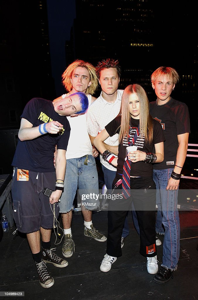 Avril Lavigne and band during 2002 MTV Video Music Awards - Rehearsals - Day 2 at Radio City Music Hall in New York City, New York, United States.