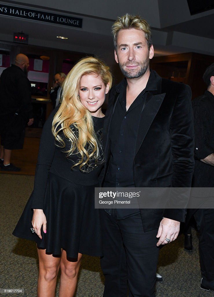 Avril Lavigne and Chad Kroeger attend the 2016 Juno Awards at Scotiabank Saddledome on April 3, 2016 in Calgary, Canada.