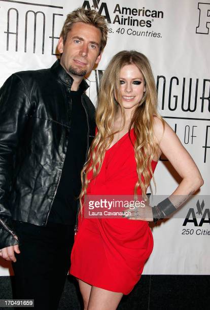 Avril Lavigne and Chad Kroeger attend the Songwriters Hall of Fame 2013 Gala at the Marriott Marquis Hotel on June 13 2013 in New York City