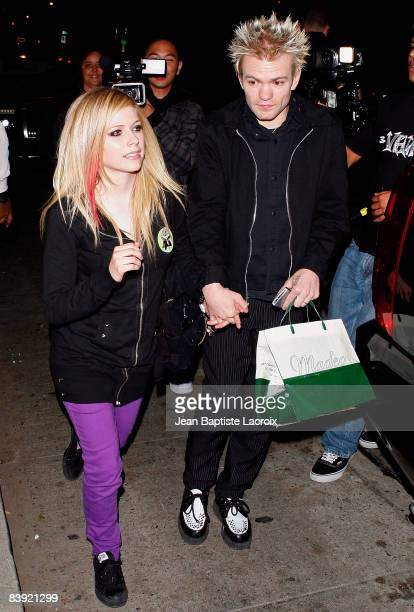 Avril Lavigne and Deryck Whibley are seen on December 4 2008 in West Hollywood California