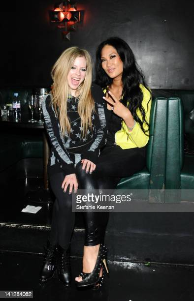 Avril Lavigne and Kimora Lee Simmons attends Justfabulous Celebrates The Launch Of Abbey Dawn By Avril Lavigne on March 13 2012 in Los Angeles...