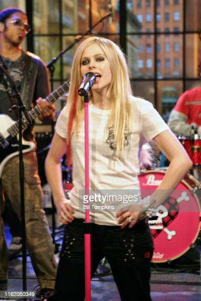 Avril Lavigne appears on the TV show PRIVATE SESSIONS on July 22 2007 in New York City