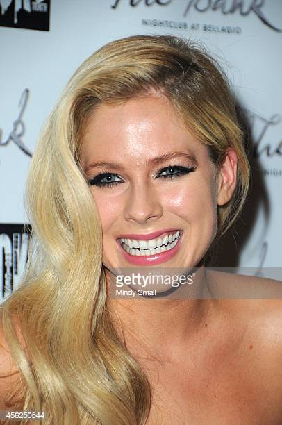 Avril Lavigne arrives at The Bank Nightclub at Bellagio on September 27 2014 in Las Vegas Nevada