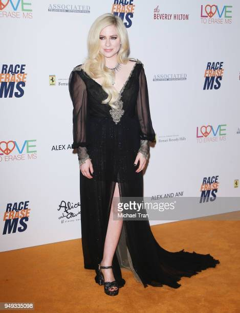 Avril Lavigne arrives to the 25th Annual Race To Erase MS Gala held at The Beverly Hilton Hotel on April 20 2018 in Beverly Hills California