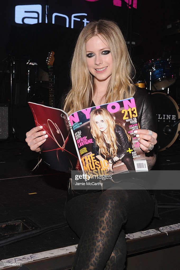 Avril Lavigne attends as NYLON And Aloft Hotels celebrate the June/July Music Issue With Avril Lavigne at the Highline Ballroom on June 11, 2013 in New York City.