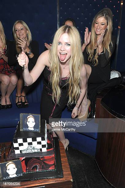 Avril Lavigne attends her new Album Release Party at the Finale on November 5, 2013 in New York City.