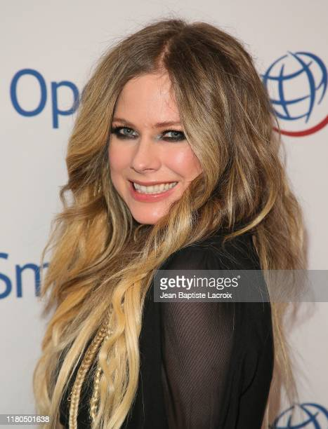 Avril Lavigne attends Operation Smile's Hollywood Fight Night hosted by Brooke Burke and Manny Pacquiao at the Beverly Hilton on November 06, 2019 in...