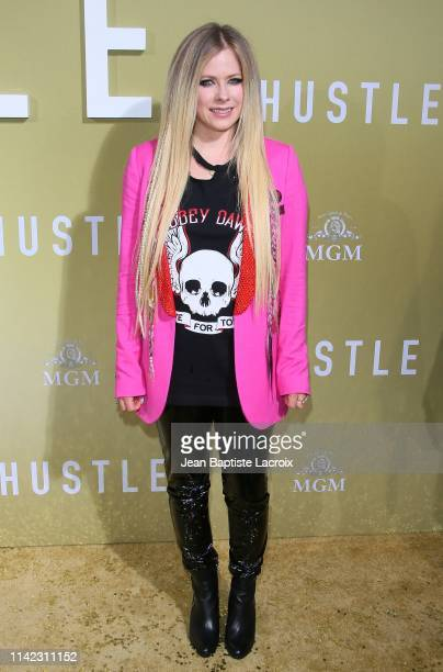 "Avril Lavigne attends the premiere of MGM's ""The Hustle"" at ArcLight Cinerama Dome on May 08, 2019 in Hollywood, California."