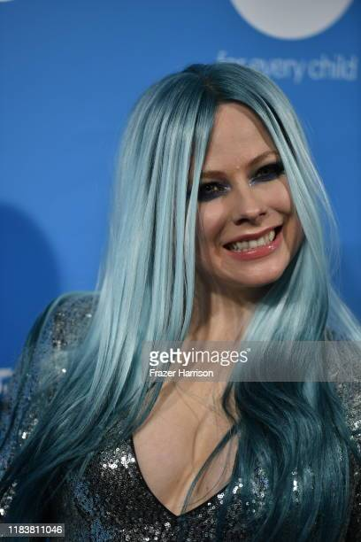 Avril Lavigne attends the UNICEF Masquerade Ball at Kimpton La Peer Hotel on October 26 2019 in West Hollywood California