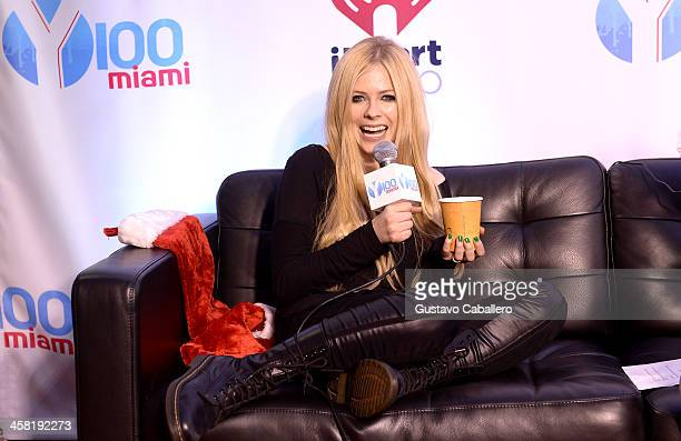 Avril Lavigne attends Y100's Jingle Ball 2013 Presented by Jam Audio Collection at BBT Center on December 20 2013 in Miami Florida