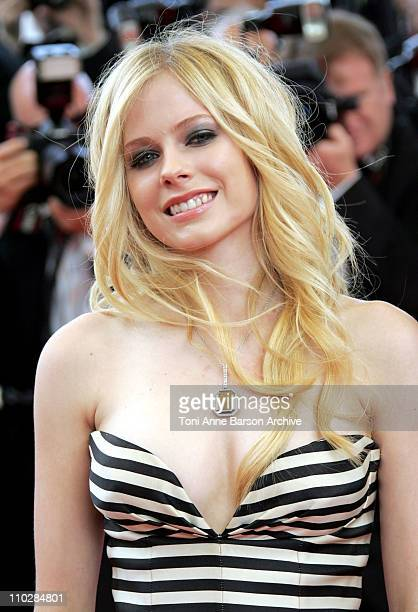 Avril Lavigne during 2006 Cannes Film Festival 'Over The Hedge' Premiere at Palais des Festival in Cannes France