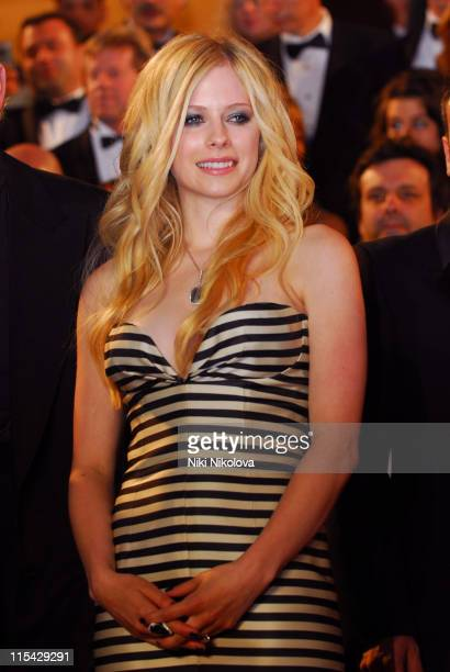 Avril Lavigne during 2006 Cannes Film Festival 'Over The Hedge' Departures at Palais des Festival in Cannes France