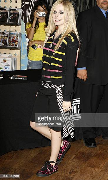 Avril Lavigne during Avril Lavigne CD Signing at Virgin Records in Hollywood April 19 2007 at Virgin Records in Hollywood California United States