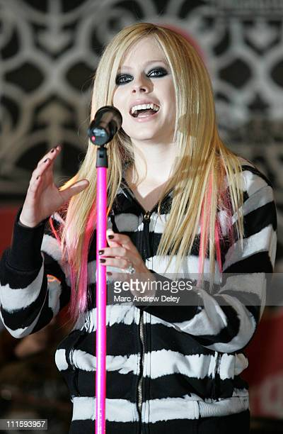 Avril Lavigne during Avril Lavigne InStore Performance at Virgin Megastore April 18 2007 at Virgin Megastore in New York New York United States