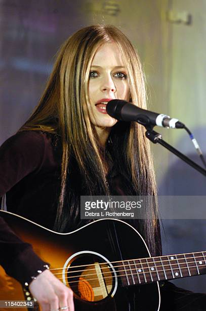 Avril Lavigne during Avril Lavigne 'Live By Surprise' Tour to Promote the Upcoming Release of her New CD 'Under The Skin' at Garden State Plaza in...