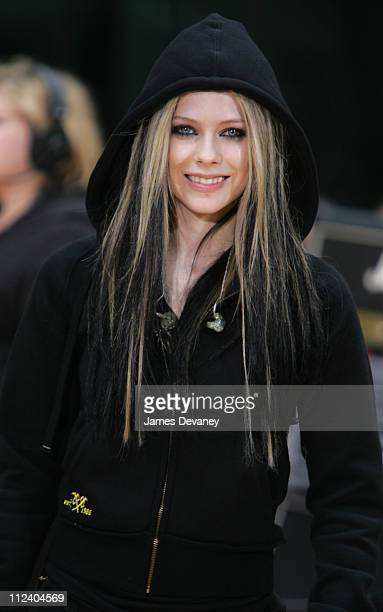 Avril Lavigne during Avril Lavigne Performs on 'The Today Show' Summer Concert Series May 21 2004 at NBC Studios Rockefeller Plaza in New York City...