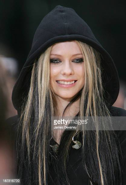 Avril Lavigne during Avril Lavigne Performs on The Today Show Summer Concert Series May 21 2004 at NBC Studios Rockefeller Plaza in New York City New...