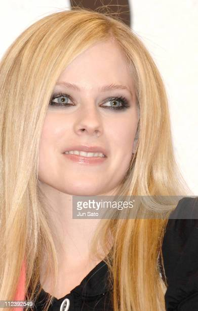 Avril Lavigne during Avril Lavigne Promotes her New Album 'The Best Damn Thing' Tokyo Press Conference at Park Tower Hall in Tokyo Japan