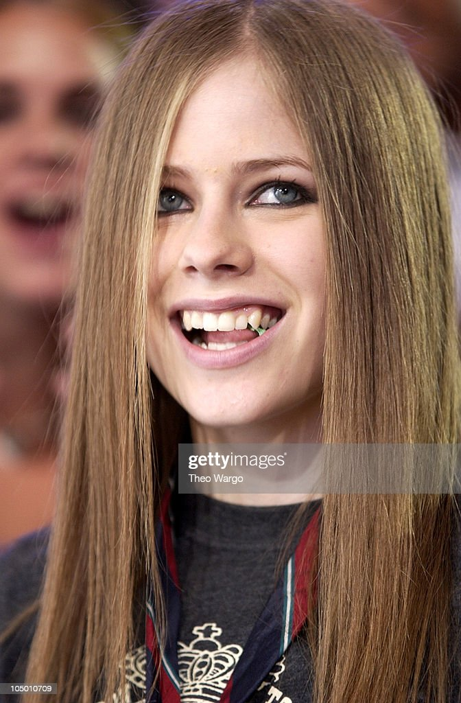 Avril Lavigne during Avril Lavigne Visits MTV's 'TRL' - August 22, 2002 at MTV Studios - Times Square in New York City, New York, United States.