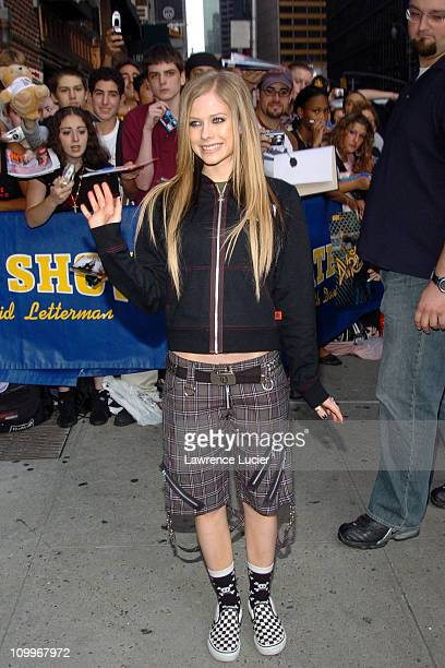 Avril Lavigne during Avril Lavigne Visits The Late Show with David Letterman September 9 2004 at Ed Sullivan Theater in New York City New York United...