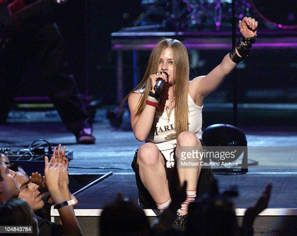Avril Lavigne during MTV Music Video Awards Latinoamerica 2002 Show at Jackie Gleason Theater Miami in Miami Florida United States