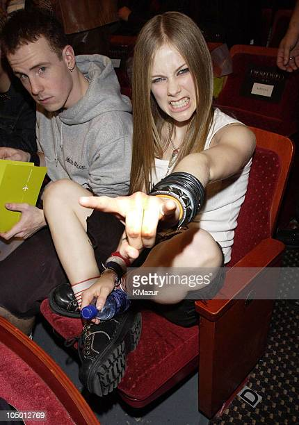 Avril Lavigne during MTV Video Music Awards Latinoamerica 2002 Backstage and Audience at Jackie Gleason Theater in Miami Florida United States