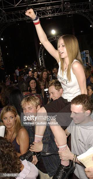 Avril Lavigne during MTV Video Music Awards Latinoamerica 2002 Arrivals at Jackie Gleason Theater in Miami Florida United States