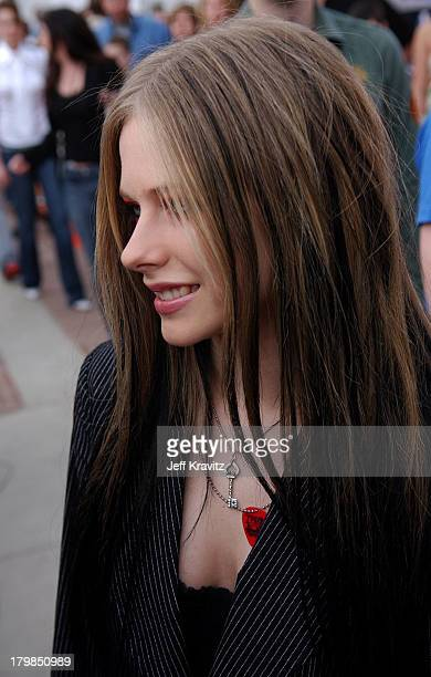 Avril Lavigne during Nickelodeon's 17th Annual Kids' Choice Awards Orange Carpet at Pauley Pavillion in Westwood California United States