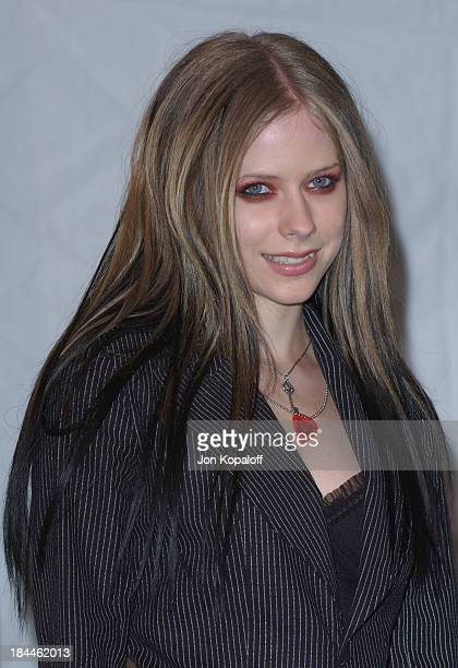 Avril Lavigne during Nickelodeon's 17th Annual Kids' Choice Awards Pressroom at Pauley Pavillion in Westwood California United States
