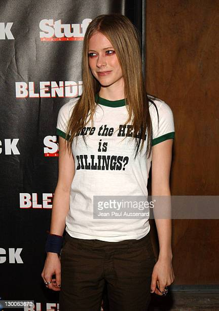 Avril Lavigne during STUFF Magazine and Blender Host Kid Rock's After Party For The 2003 American Music Awards Red Carpet/Inside at Forbidden City in...