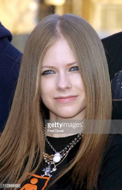 Avril Lavigne during The Brit Awards 2003 at Earl's Court in London United Kingdom