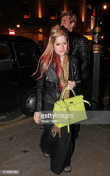 Avril Lavigne is seen on October 09, 2012 in London, United Kingdom.