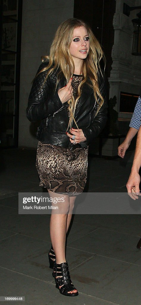 Avril Lavigne leaving the Corinthia hotel on June 5, 2013 in London, England.