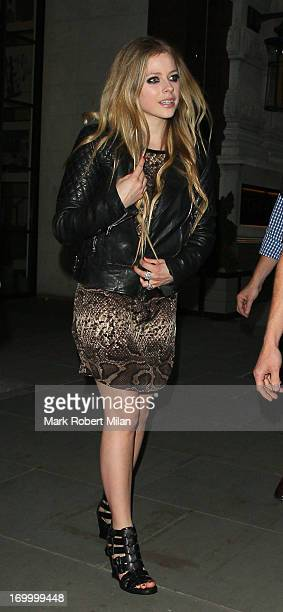 Avril Lavigne leaving the Corinthia hotel on June 5 2013 in London England