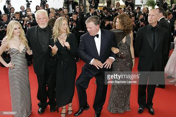 Avril Lavigne Nick Nolte William Shatner and Bruce Willis