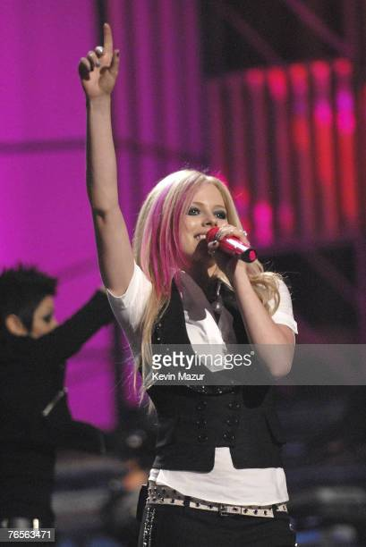 Avril Lavigne performs at Conde Nast Media Group's 4th Annual Fashion Rocks at Radio City on September 6 2007 in New York City