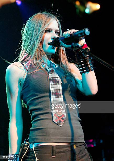 Avril Lavigne performs at Irving Plaza in New York City. 7/31/02 Photo by Scott Gries/ImageDirect