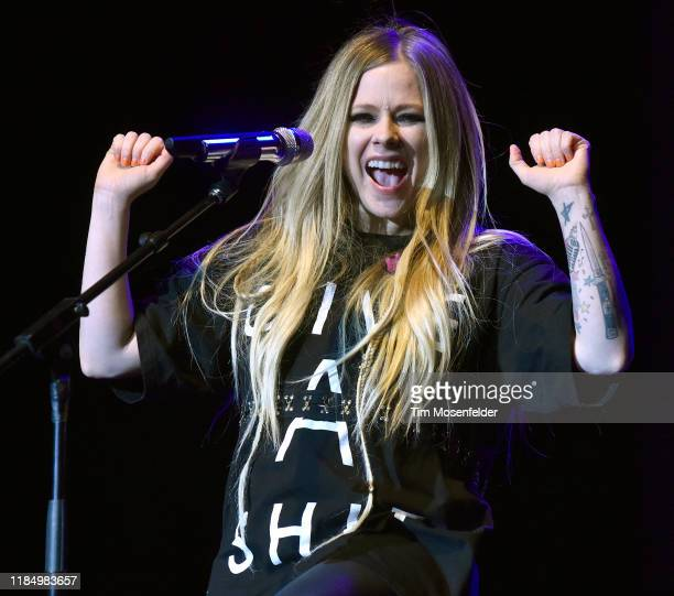 Avril Lavigne performs during 2019 Live in the Vineyard at the Uptown Theatre on November 01, 2019 in Napa, California.