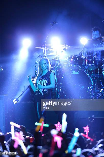 Avril Lavigne performs live at Linkou stadium on March 16 in Taipei Taiwan of China