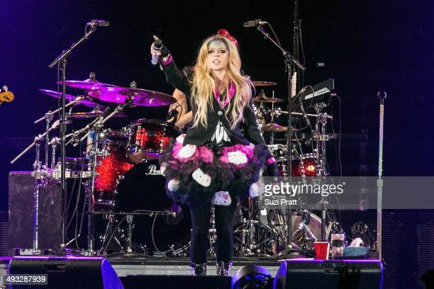 Avril Lavigne performs live with her band at WaMu Theater on May 22 2014 in Seattle Washington